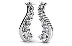 Wavy Journey Diamond Earrings