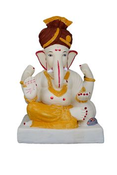 """Ganesha with """"Pagdi""""  Height 17""""  MRP:Rs 2000"""