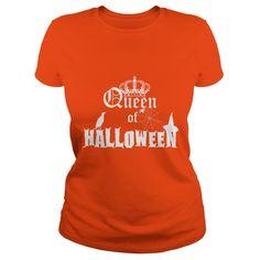 Queen of halloween - Tshirt Holidays Halloween, Halloween Men, Halloween Birthday, Old Sweater, Sweater Hoodie, Shirts For Teens, Sorority Shirts, Purple Sweater, Latex Fashion