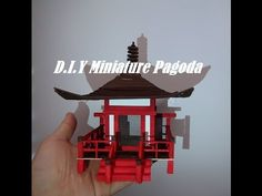(377) DIY Miniature Pagoda from Popsicle sticks. - YouTube