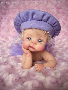 Newborn Baby Dolls, Cute Baby Dolls, Reborn Babies, Cute Little Baby, Little Doll, Baby Kind, Baby Fairy, Clay Baby, Polymer Clay Dolls