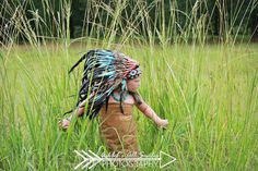 N33- From 5-14 years Kid / Child's: Indian turquoise and black feather Headdress 21 inch. – 53,34 cm. by theworldoffeathers. Explore more products on http://theworldoffeathers.etsy.com