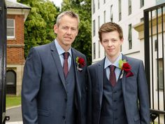 Navy suits, groom and best man x Groomsmen Outfits, Navy Suits, Smart Casual, Cornwall, Our Wedding, Reception, Castle, Suit Jacket, Fashion