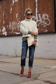 Street Scene Vintage: How to Wear: Boyfriend Jeans