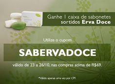 Rede Natura Maria Berlofa: Ganhe uma caixa de sabonetes sortidos Erva Doce, a...