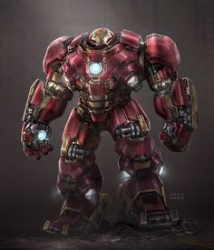 Hulkbuster Digital Art Avengers Character Drawings Fan Art Games Iron Man Movies & TV Paintings & Airbrushing Superhero