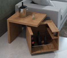 end table for living room or beside bed to hide books