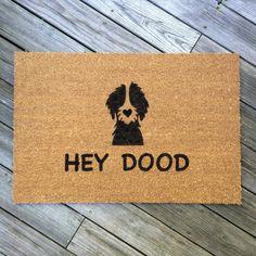 HEY DOOD//Door Mat/Goldendoodle/Labradoodle/Dog by DOGNATTi