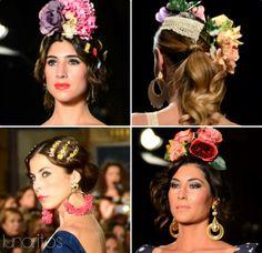 Recogidos y peinados de flamenca para la #Feria de Abril en Sevilla