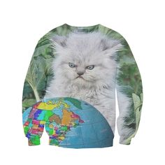 cat globe sweatshirt from Beloved Shirts