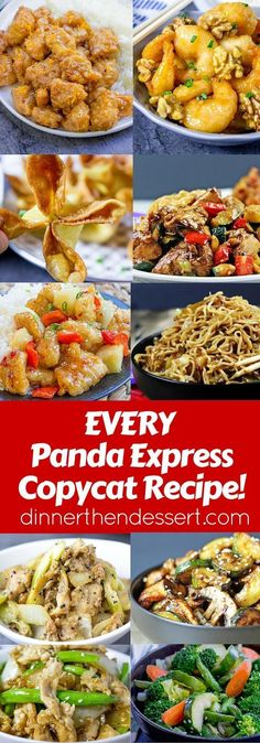 Every Panda Express Recipe from the menu, from entrees to sides and appetizers! #ChineseFoodRecipes