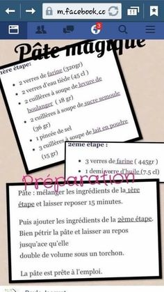 Pâte magique Tup Entertaining, Pains, Beignets, Bread, Dessert, Simple, Powdered Milk, Pastries, Gentleness