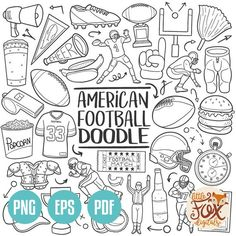VECTOR EPS American Football Sport Traditional Doodle Icons Clipart Scrapbook Set Hand Drawn Line Art Design Set Artwork Clip Art Coloring – American Football Line Art Design, Design Set, Make Design, Doodle Png, Doodle Icon, American Football, Football Doodle, Handmade Gifts For Girlfriend, Travel Doodles