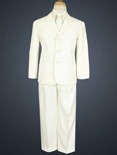 Baby Boy's Ivory 5 Pc Suit with Vest CutieBeauty. $56.00