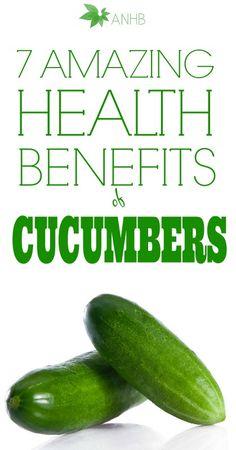 7 amazing #health #benefits of #cumbers!