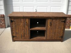 Rustic Farmhouse style Media Center by BordersBuilt on Etsy