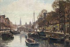 Heinrich Hermanns - Amsterdam, gezicht op de Geldersekade in de richting van de Nieuwmarkt en de Zuiderkerk.