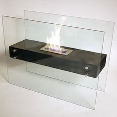 "31.49"" La Strada Ethanol Floor Bio-Fireplace"