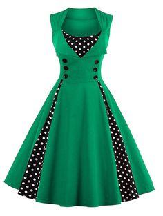 Vintage Dot Pin Up Dress