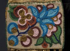 cree beadwork   Condition: Hide has been rubbed with a conditioner making the hide ...