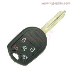 KeylessOption Keyless Entry Remote Key Blade Fob Shell Case Cover Button for Ford Fiesta CWTWB1U793 Pack of 2