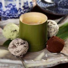 Какао торюф - десерт с какао, орешками кешью и четырьмя видами японской сладкой пудры