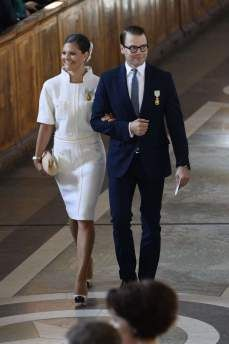 Crown Princess Victoria of Sweden and husband Prince Daniel attend Te Deum service as part of King Carl's Jubilee celebrations Princess Marie Of Denmark, Princess Victoria Of Sweden, Princess Estelle, Crown Princess Victoria, Hollywood Fashion, Royal Fashion, Princesa Victoria, Victoria Prince, Sweden Fashion