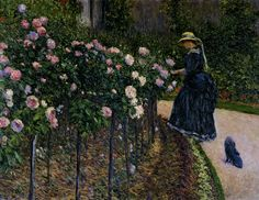 Gustave Caillebotte - Les roses