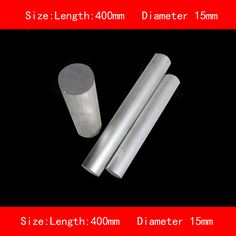 Smooth Surface Length 400mm Diameter 15mm Silver 6061 Aluminum Rod Bar Rod Diameter Surface