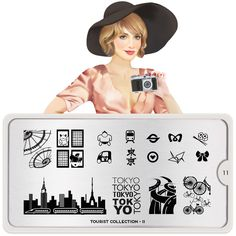 Tourist Collection - Your favourite nail art image plates. Design your nails with icons from cities around the world like Rome, Paris and NY. All designs engraved on stainless steel nail art stencils. MoYou-London an award winning nail art brand. Nail Art Designs Images, Simple Nail Art Designs, Toe Nail Designs, Easy Nail Art, Stamping Nail Polish, Nail Art Stamping Plates, Moyou Stamping, Nail Plate, Casino Royale