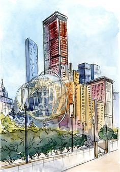Ознакомьтесь с моим проектом в @Behance: «Watercolor New York» https://www.behance.net/gallery/46948261/Watercolor-New-York