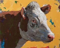 DAVID PALMER STUDIO | People Like Cows #7, acrylic on wood, 16 x 20 inches |  http://www.davidpalmerstudio.com/art_pages/PeopleLikeCows.html#2014_PeopleLikeCows_7