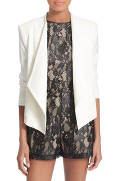 Alice + Olivia 'Claude' Leather Blazer available at #Nordstrom