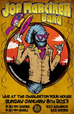 Joe Marcinek Band :: Sunday, January 8th :: The Charleston Pour House :: Charleston, SC