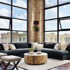 Hudson Round Coffee Table #Minimalistlivingrooms
