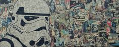 Artist Mike Alcantara Turns Comic Books Into Awesome Collages Star Wars Comic Books, Star Wars Comics, Star Wars Art, Dc Comics, Collages, Collage Artists, Comic Collage, Comic Art, Star Wars Wallpaper