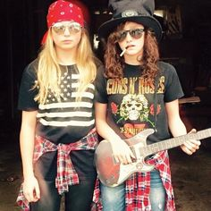 Axel rose and slash Halloween costume  sc 1 st  Pinterest & DIY Halloween Costume Inspiration- Slash u0026 Axl Rose by reaganbkelly ...
