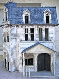 old Halloween style doll house (please follow minkshmink on pinterest)