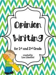 Writing Opinions in 2nd Grade