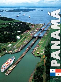 Panama Canal.  51 mile waterway connecting the Atlantic and Pacific Oceans. greatest engineering feat in the history of the world.