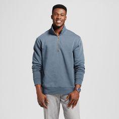 Men's Quarter Zip Fleece Pullover Sweater Big & Tall Gray 3XB Tall - Merona