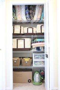 Linen closet organization plus Lands' End canvas storage totes giveaway!!