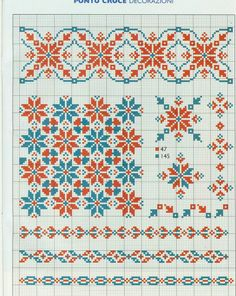 Gallery.ru / Фото #27 - 6 - kento Gallen Cross stitch pattern two tone border fill all over geometric