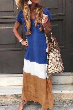 Printed Short Sleeve V Neck Bohemian Plus Size Maxi Dress – lokeeda Shift Dresses, Plus Size Maxi Dresses, Summer Dresses, Dresses Dresses, Casual Dresses, Sleeveless Dresses, Dresses Online, Fashion Dresses, Maxi Dress With Sleeves