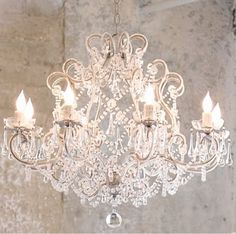 I have a weird obsession for chandeliers. Love this one.