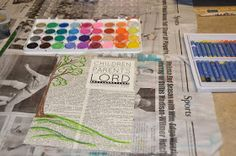 theartgirljackie-tutorials: Wax Resist Watercolor Collage