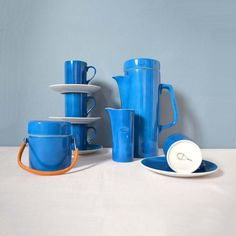 Mid Century LaGardo Tackett Coffee Set - this is just so freakin' happy and colorful!