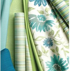 This is a bunch of new greens and aquas from Sunbrella 2014-2015.  This goes with green and blue design, as well as all of the organic neutrals.
