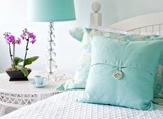 blue pillow is cute
