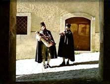 The zampognari, the shepherds who play the bagpipes, come down from their mountain homes at Christmas time and perform in the market squares. The playing of bagpipes is popular in the regions of Calabria and Abruzzo, and in the piazzas of Rome.